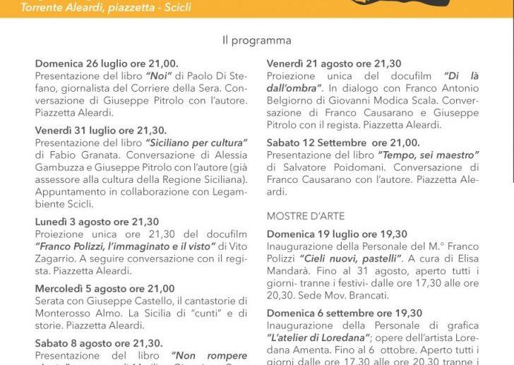 Sere d'estate a Scicli col Vitaliano Brancati. Il programma 2020