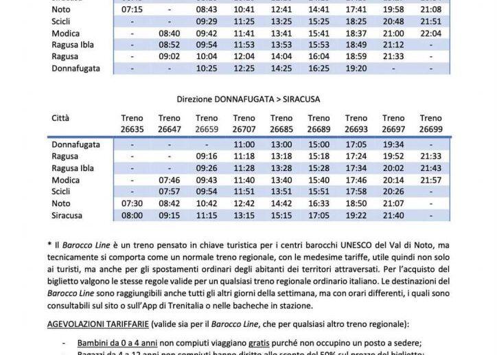 Barocco Line. Ecco gli orari della linea che porta alla scoperta dei centri Unesco del Val di Noto